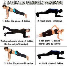 5 dakıkalık egzersiz programı