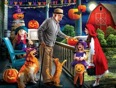 Halloween at Grandpa's - 500pc Jigsaw Puzzle By Sunsout - SeriousPuzzles.com