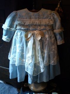 Beautiful dress for German or French antique doll 29-30..