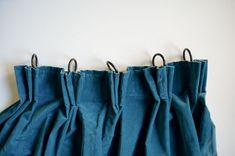 How to: Triple Pinch Pleat Curtains with IKEA Hardware Bedroom Curtains With Blinds, Scarf Curtains, Pinch Pleat Curtains, No Sew Curtains, Ikea Curtains, Pleated Curtains, Cotton Curtains, Rod Pocket Curtains, Window Curtains