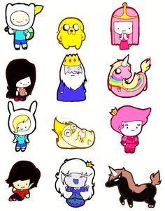 Characters of AT with Finn & Jake and Fionna & Cake