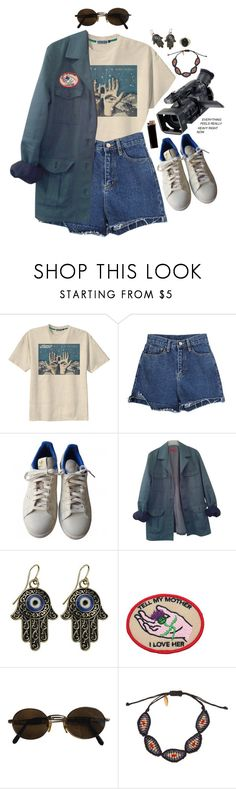 """""""savage planet"""" by celluloid ❤ liked on Polyvore featuring Retrò, adidas, HUGO, Moschino, Panasonic, Zayiana, GAS Jeans and Kieselstein-Cord"""