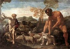 Norandino et Lucina découverts par l'Ogre, œuvre de Giovanni Lanfranco peinte en 1624 en illustration de Orlando furioso @Wikipedia.fr.org