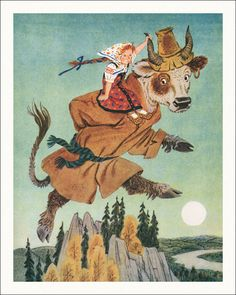 Н. Трепенок, Золотой серпок Golden sickle. Russian folk tales. Illustrator N. Trepenok, 1994.