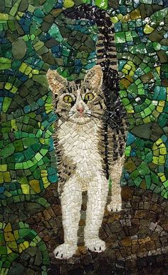 Glass Art Cat http://www.anastasiapollack.blogspot.com/2014/05/crafts-with-anastasia-glass-art-with.html