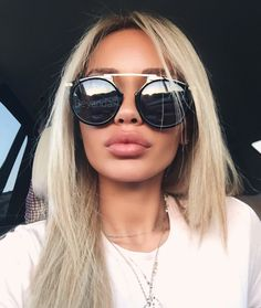 lip injections Carmen Noir sunglasses via beyandall Dermal Fillers, Lip Fillers, Beauty Make Up, Hair Beauty, Botox Lips, Lip Injections Juvederm, Best Lace Wigs, Aesthetic Dermatology, Alena Shishkova