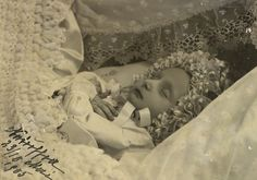 Post mortem photo of Princess Natalia Konstantinovna, the second-to-last child of KR and Elizaveta Mavrikievna, who died at only 2 months of age in 1905