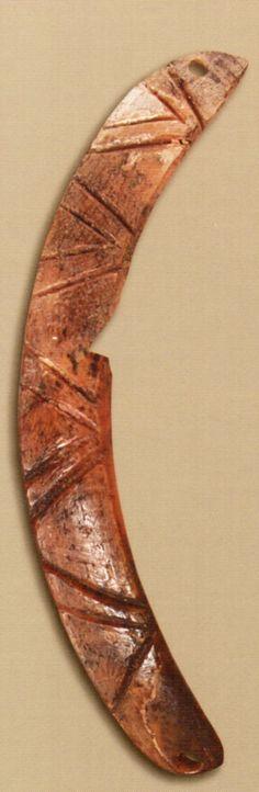 Çatalhöyük,Kemik gerdanlık, Konya Arkeoloji Müzesi, James Mellaart (Erdinç Bakla archive)