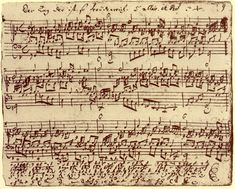 "Beethoven's ""Fantasy and Fugue"" ~ original manuscript"