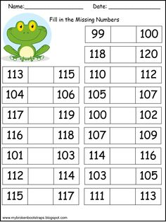 Adorable FREE worksheets for missing numbers 0 - 120. It also includes 5 blank templates for you to differentiate your instruction. This blog has freebies every Monday!