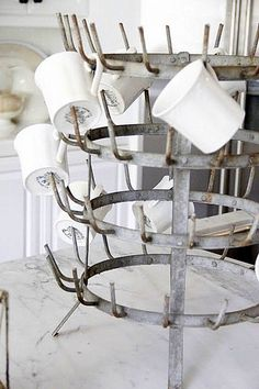 Love this french bottle drying rack, had to settle for a reproduction at World Market for $14