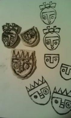 More crazy block print faces