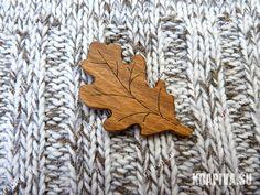"""Брошь """"Дубовый лист"""" брошь из дерева, деревянная брошь, украшение из дерева, украшение, модный аксессуар, подарок, деревянные изделия, тула, handmade, wood, brooch, tula, подарки, заколка, ручная работа, дерево, брошь, украшение, эко, новинка, деревянные украшения, pin, дуб, лист, leaf"""