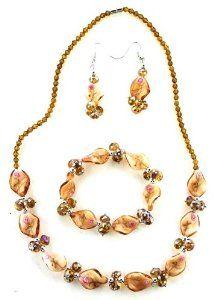 Glass Bead Necklace, Bracelet, & Earring Set - Amber Glass Bead Fashion Jewel...  http://electmejewellery.com/jewelry/jewelry-sets/glass-bead-necklace-bracelet-earring-set-amber-glass-bead-fashion-jewel-ca/