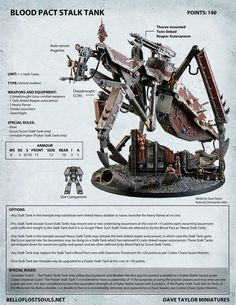 Blood Pact (renegade traitor Guardsmen) Stalk-Tank. Now there's rules to use it in Warhammer 40k Apocalypse. Fuckin' SWEET!!!!!!!!!