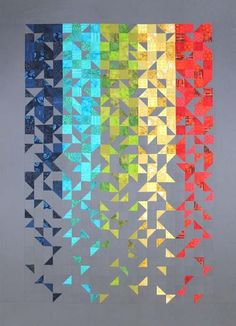 Ideas patchwork quilt patterns ideas book for 2019 Design Textile, Design Floral, Art Textile, Jellyroll Quilts, Scrappy Quilts, Blue Quilts, Easy Quilts, Mini Quilts, Quilting Projects