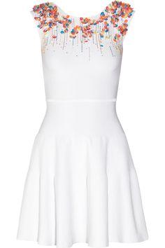 ISSA, Embellished stretch-jersey mini dress - Adorable!