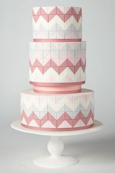 2015 brings some sugary sweet wedding cake trends that we just can't get enough of. Creative and cool, we're sure there will be something to your taste! Tiled cake. Mosaic cake