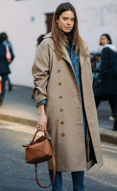 Classic Streetstyle Spring Summer Fashion, Autumn Winter Fashion, Winter Style, Fall Fashion, Street Chic, Street Style, Looks Style, My Style, Leather Trench Coat