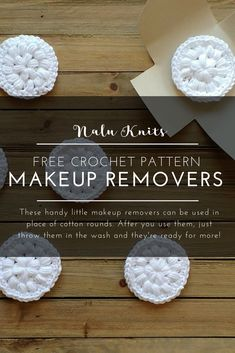 Reuseable Makeup Removers <br> I came across a wonderful post about making your own crocheted reusable makeup removers. I've seen many versions that required you to do a lot of cutting of fabrics and dusting off the ol' sewing m… Scrap Yarn Crochet, Knit Or Crochet, Crochet Gifts, Free Crochet, Scrubbies Crochet Pattern, Crochet Dishcloths, Free Knitting, Knitting Patterns, Crafts