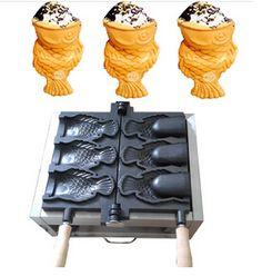 Waffle Machine Maker Ice Cream Cones 3 Big Mouth Fish Taiyaki Non-Stick Cooking Equipment, Food Service Equipment, Cooking Gadgets, Kitchen Gadgets, Korean Ice Cream, Waffle Machine, Waffle Ice Cream, Waffle Cones, Making Machine