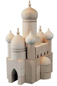 Mughal Europe Influenced (Russian) Mosque Wooden Blocks : Tall Masjid Style (Type 471) Haba