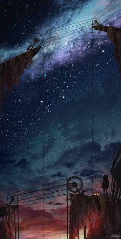 Wallpaper Animes, Anime Scenery Wallpaper, Wallpaper Space, Landscape Wallpaper, Galaxy Wallpaper, Nature Wallpaper, Animes Wallpapers, Cute Wallpapers, Wallpaper Backgrounds