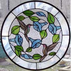 Hummingbird Stained Glass Window | let us know and we can custom design a piece especially for you.