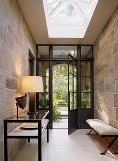 entry...stone walls yes