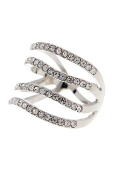 Updown Pave Crystal Ring