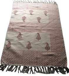 Handwoven Handmade Block Ptint Kilim Dhurrie Area Rugs Kilim Carpet Area Rug  #Handmade #ArtsCraftsMissionStyle Kilim Rugs, Hand Weaving, Area Rugs, Arts And Crafts, Carpet, Handmade, Ebay, Hand Knitting, Rugs