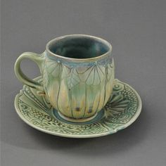 Mary Cuzick | Cup & saucer.  Click picture to see much more of their pottery, and show dates in Calif.