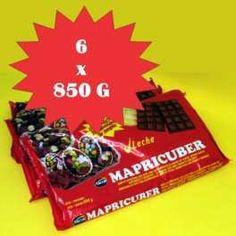 Categoría: Chocolates - Producto: Chocolate Baño Moldeo Con Leche - Envase: Caja - Presentación: 6 X 850 G - Marca: Mapricuber
