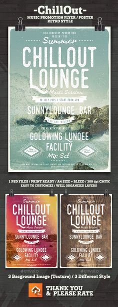 Lounge Club Poster Template   Lounge Club Club Poster And Font