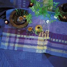 French-Linen-Fete-Garnier-Thiebaut-100-Cotton-Ali-Baba-Toureg-Tablecloth-NWT