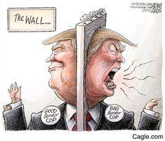 The Wall, Trump playing Good Border Cop vs. Bad Border Cop