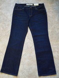 067be76d135 Nwt Ann Taylor Loft Slim Boot Flap Pocket Jeans Sz 12 L Tall 36