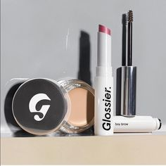 "Glossier Makeup !!! Glossier Makeup. In love with this brand. I recommend the lip tint in color ""Cake."" Also their concealer is so amazing for highlighting and under your eyes. All orders come with samples and a super cute makeup pouch! Use my link to get 20% off your order+free shipping. The link is http://bff.glossier.com/dKUWH and also in my bio. #glossier #glossiermakeup #skin #lipbalm #skincorrecting Makeup"