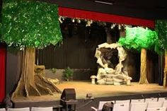"Image result for props + sets for ""jungle book"" stage production"
