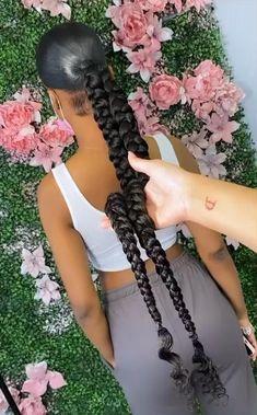 Wedding Ponytail Hairstyles, Hair Ponytail Styles, Braids Hairstyles Pictures, Black Girl Braided Hairstyles, African Braids Hairstyles, Baddie Hairstyles, Ponytail Hairstyles With Weave, Curly Hairstyles, Hair Styles