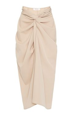 Uva Lightweight Wool Draped Skirt by Max Mara | Moda Operandi