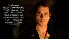 Discover and share the most famous quotes from the movie The Prestige. The Prestige Quotes, The Prestige Movie, Men Quotes, Wisdom Quotes, True Quotes, Qoutes, Tv Show Quotes, Film Quotes, Christopher Nolan Quotes