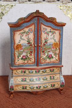 Cabinet. Limited Edition.  Handpainted  scale by Lolaminiatures, $590.00