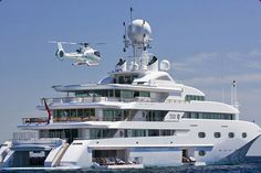 Helicopter, yatch, everything i would love to own... speechless.
