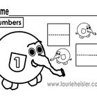 Learn to write numbers-math worksheets*20 worksheets included ...