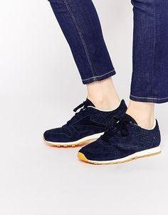 Reebok | Reebok Indigo Leather Woven Sneakers at ASOS