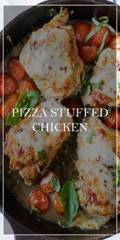 Pizza Stuffed Chicken << #yummy #food Chicken Pizza, Stuffed Chicken, Sunday Recipes, Dinner Recipes, Vegetarian Recipes, Cooking Recipes, Healthy Recipes, Main Course Dishes, Good Food
