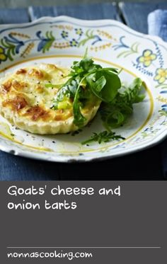 Goats' cheese and onion tarts |      Served with a lemony rocket salad, these delicious tarts make a great summer dish.Equipment and preparation: For this recipe you will need 4 x 10cm/4in loose-bottomed tart tins.