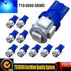 10PCS T10 5050 5SMD Blue LED Car Light Wedge Lamp Bulbs Super Bright DC12V Fog