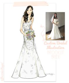 Brooke Hagel: Custom Bridal Illustration Wedding Gifts